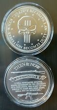 1 oz .999 Silver Punisher coin,  end tyranny,  second amendment ar15 musket NEW