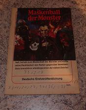 Grusel Roman / Maskenball der Monster