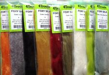 "Fly Tying Synthetic Fibers Set - 4Trouts ""Foxy Silk"" - 9x colors"