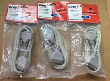 LOT OF 3- 6ftFt. IEEE-1284 DB25M Male to Male Serial Parallel Cable CENT36M