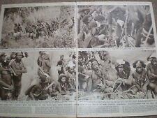 Photo article first contact with Duna tribe of New Guinea 1954 ref X3