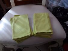 """Set of 6 lime colored dinner napkins 16"""" x 14"""""""