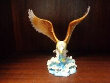 Collectible Eagle on Water Swarovsk Bejeweled Hinged Trinket Box