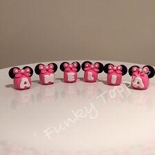 Comestibles Cartas personalizar nombre Bloques Disney Minnie Mouse, Torta, Decoraciones