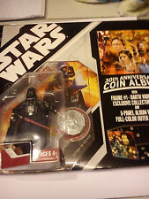 HASBRO STAR WARS 30TH ANNIVERSARY COIN ALBUM WITH DARTH VADER FIGUTE