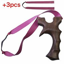 Thinkbay Theraband Slingshot+3 PCS Rubber Bands Olympus Catapult Wood Hunting