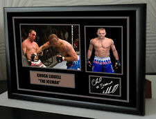 "CHUCK LIDDELL ""ICEMAN"" Framed Canvas Signed  ""Great Gift"""