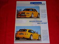BMW Z3 M Coupe Hamann Motorsport Individualprogramm Prospektblatt von 2000