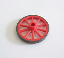 PLAYMOBIL (B729) WESTERN - Petite Roue 45mm Rouge Noire Chariot 3804 Ranch 3805
