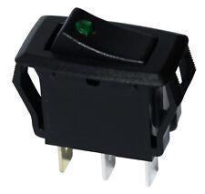 Interrupteur commutateur bouton à bascule noir SPST OFF-(ON) 10A/250V  LED vert