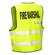 FIRE MARSHAL High Viz Visibility Safety Vest (Zip Front) THE-SECURITY-STORE