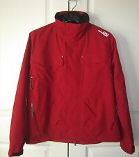 AIGLE ACTIMUM MEN JACKET COAT Size L RED ALLWEATHER SHELL WATER WIND RESIST NWT