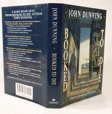 John Dunning, BOOKED TO DIE, Signed & Inscribed,1st/1st, Like New