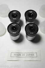 Lote oculares microscopio 10x 15x P10x KW15x eyepiece (23,2mm Made in Japan)