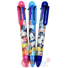 Disney Mickey Mouse 6 color Retractable Ballpoint Pens 3pc Set