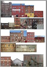 #401 HO scale 17 background buildings COMMERCIAL BACKS WITHOUT FOAM CORE