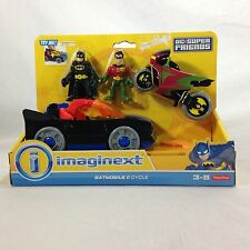 Fisher Price Imaginext DC Super Friends Batmobile & Robin Cycle Exclusive DC