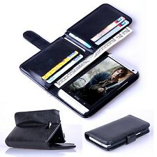 NUOVO 7 CARD SLOT FLIP WALLET LEATHER Stand Case Cover per HTC One M7