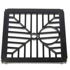 "Pack x2 Square Gulley Grid Cover Tough Black Nylon Drain Cover 6"" 150mm Std Fit"