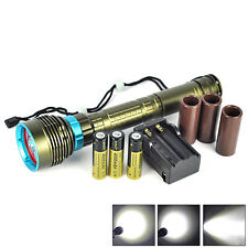 10000LM 7x XM-L L2 LED Underwater 200m Scuba Diving Flashlight Torch+3X 18650+CH