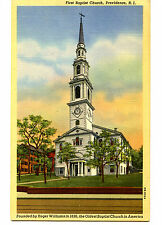 First Baptist Church-Oldest in America-Providence-Rhode Island-Vintage Postcard