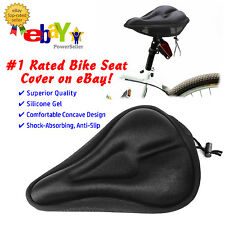 Silicone Gel Thick Soft Bicycle Bike Cycling Saddle Seat Cover Cushion Pad Black