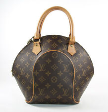 Louis Vuitton Paris Monogram Ellipse Hand Bag Gold Lock 339 Made in USA
