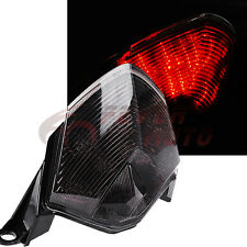 Smoke Integrated LED Tail Rear Light Turn Signal Lamp For Kawasaki ZX6R 09-10 FM