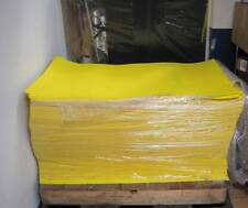 "New Yellow Plastic Sheet 48"" x 26"" POLYSTYRENE? styrene? Lot 900+ Sheets"