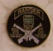 "Hat Lapel Push Tie Tac Pin Ranger Mess with the Best NEW 7/8"" diameter green cap"