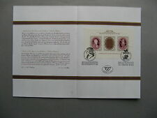 AUSTRIA, spec. issue FDC 1991, S/S Mozart, music composer, hologramme