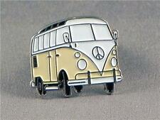 CAMPERVAN LAPEL PIN BADGE VOLKSWAGEN CAMPING VW CAMPER  CREAM  (KT-23)