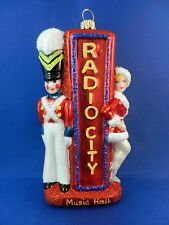 Radio City Music Rockets New York Madison Square Christmas Ornament Glass 011092