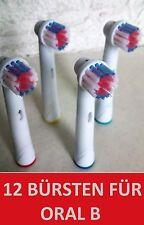 12 Spazzole di ricambio/Spazzole per Braun Oral B Oral-B Oralb Precision Clean
