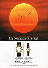 PUBLICITE ADVERTISING 114  1979  SEIKO QUARTZ PRECISION SOLEIL 2  montres
