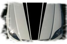 Car Dual Racing Stripes Vinyl  Front  Hood Decals  Stickers #CG300