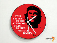 Revolution - Che Guevara - Quotes - It Is Better to Die Standing - Wall Clock