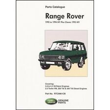 Range Rover Parts Catalogue 1992-1994 MY plus Classic 1995 MY book paper