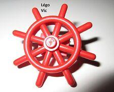 Lego Fabuland 4790c01 Boat Ship Wheel with Technic Brick 1 x 2 gourvernail rouge
