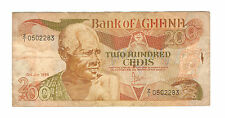 old Ghana 200 Cedis 1986 series used replacement? Z/1 prefix? very nice! scare!