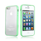 Green Hard MATTE PC & Soft GEL Cases Cover for Apple iPhone 4 4S 4G 4GS