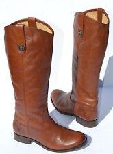 Frye Melissa Button Cognac Leather Riding Boots Size 6.5 B