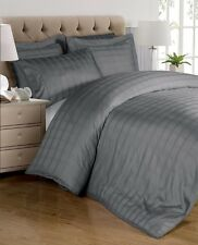 Chezmoi Collection 300TC 100% Cotton 3-Piece Plaid Duvet Cover Set King, Grey