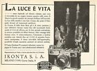 W9428 Zeiss Ikon IKONTA - La luce è vita - Pubblicità 1937 - Old advertising