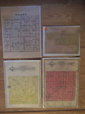 4 Vintage 1908 Illinois County & Township Plat Maps Hancock Adams Fulton ETC
