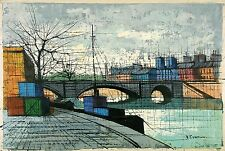 A. GUALTIERI Signed Vintage Mid Century 1950's-60's Painting FRENCH CITYSCAPE