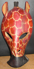Hand Carved Kenya Wooden Giraffe Mask