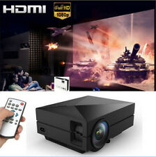 1000 Lumens HD 1080P Home Theater Projector 3D LED Portable SD HDMI VGA USB New