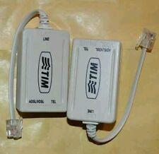 2 Filtri adsl Rj11 Tim  nuovo modello  Modem Telecom router Alice Nuovi