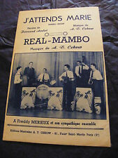 Partition J'attends Marie AT Cekow Real Mambo Freddy Merieux 1959